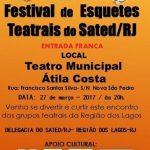 SÃO PEDRO DA ALDEIA – São Pedro da Aldeia recebe Festival de Esquetes Teatrais na segunda-feira (27)