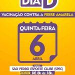 SÃO PEDRO DA ALDEIA – Saúde aldeense prepara Dia D de vacinação contra Febre Amarela nesta quinta-feira (06)
