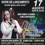 """EVENTO – Nessa sexta (17), acontece em Cabo Frio, o show de lançamento da música """"Quem Diria Nós Dois"""""""