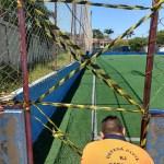 CABO FRIO – Defesa Civil interdita quadra sintética do Complexo Aracy Machado