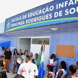 SÃO PEDRO DA ALDEIA – ESCOLA DE EDUCAÇÃO INFANTIL É INAUGURADA EM SÃO PEDRO DA ALDEIA