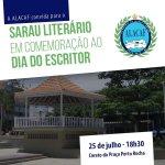 LITERATURA – ALACAF comemora Dia do Escritor com sarau festivo no Coreto da Praça Porto Rocha