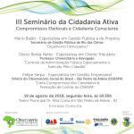Observatório Social do Brasil de São Pedro da Aldeia – Seminário da Cidadania em São Pedro da Aldeia