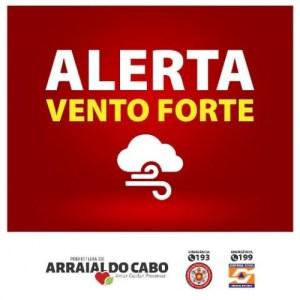 ALERTA DE VENTOS FORTES PARA O FIM DE SEMANA
