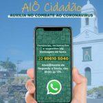 ALÔ CIDADÃO AUXILIA NO COMBATE AO CORONAVÍRUS EM SÃO PEDRO DA ALDEIA