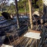 Acampamento foi alvo de incêndio criminoso na última segunda-feira (6) em São Pedro da Aldeia, no RJ — Foto: Arquivo pessoal