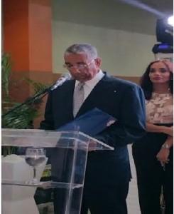 El presidente de la empresa, La Fuente Fun, don Luis Arias,