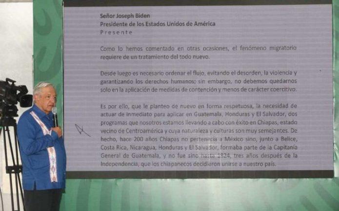 AMLO lee carta que envió a Biden - Énfasis
