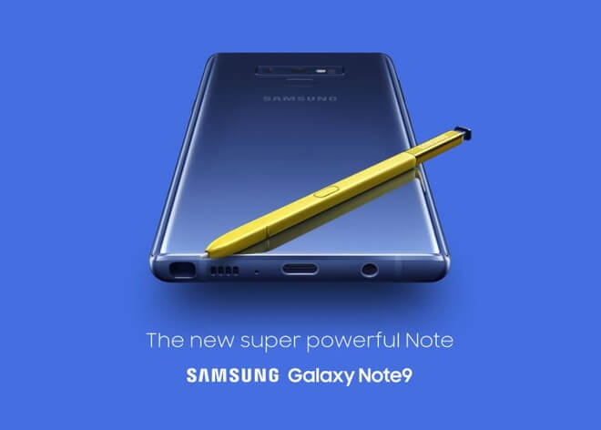 Galaxy Note 9 actualização