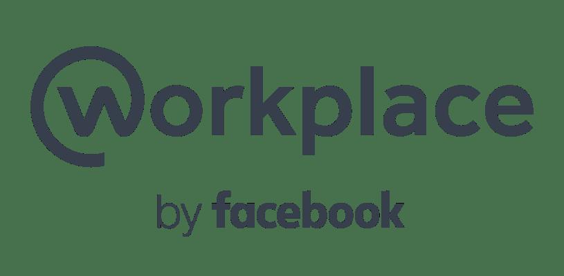 Workplace Logotype Lock up Two Line Grey RGB - Facebook: Workplace anuncia novas ferramentas