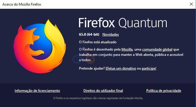 Firefox 65 - Mozilla retoma o lançamento do Firefox 65