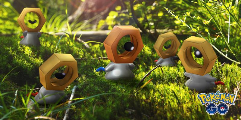 Meltan e Melmetal brilhante em Pokémon Go