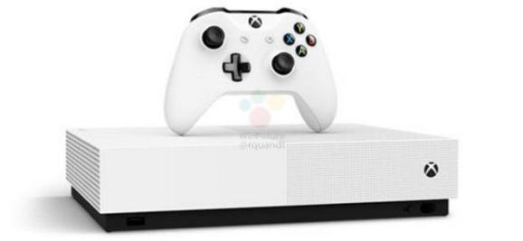 Xbox One S All Digital 1 - Microsoft Xbox One S All Digital vai estar à venda a 7 de maio por 229 euros