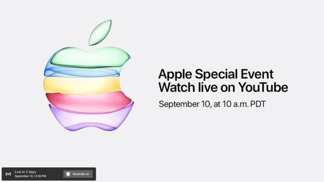 Apple Youtube - Apple: Assiste aqui em directo ao lançamento dos novos iPhone 11