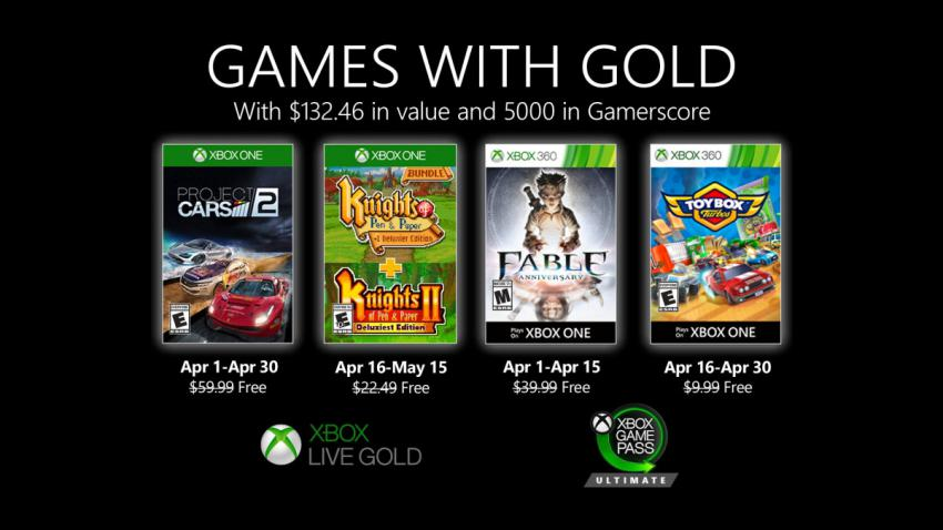 Xbox Games With Gold Abril 2020