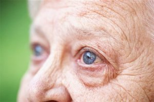 614-06536950 © Masterfile Royalty-Free Model Release: Yes Property Release: No Close up of older woman's blue eye