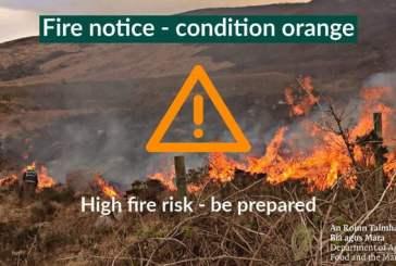 ¡Estado de advertencia naranja para posibles incendios!