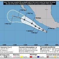 ¡Se esperan lluvias el 26 y 27 de Junio por Tormenta Tropical Dora!