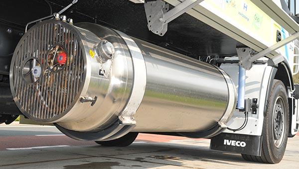 Iveco stralis LNG con depósito de gas natural