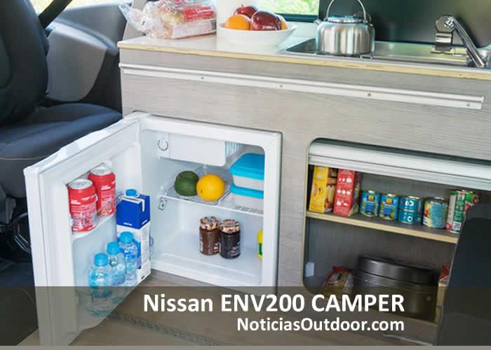 nissan env200 camper cocina nevera