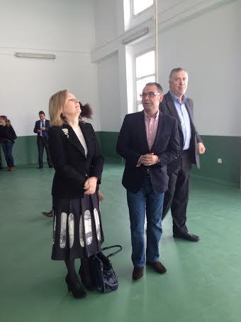 Amparo Valcarcel y José Quintana, diputados del PSM apoyando al alcalde José María Fraile, alcalde