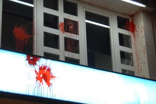 Actos vandálicos en la sede PP Getafe 1