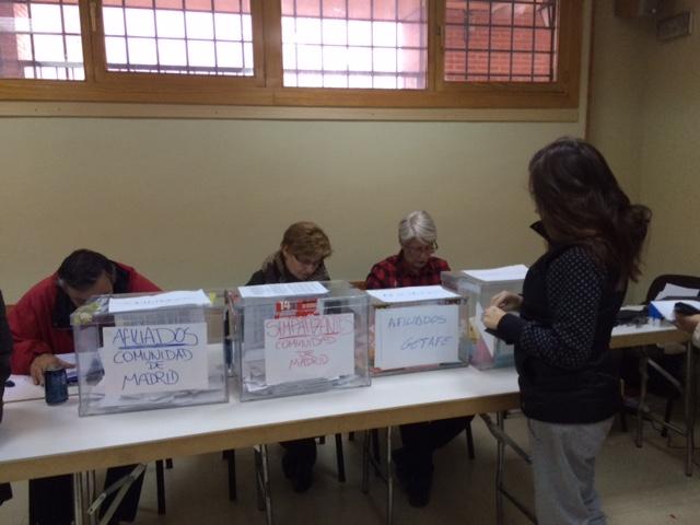 Sede de IU Getafe durante la votación de hoy a las primarias