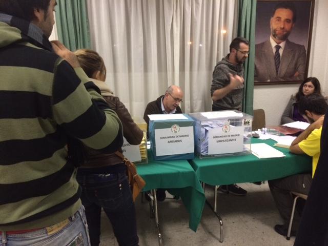 Sede IU Leganés durante la votación de hoy en las primarias
