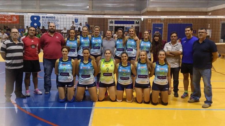 El CV Leganés de Superliga Femenina 2, durante la Copa Comunidad de Madrid (Foto: CV Leganés)