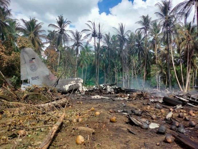 El avión transportaba tropas, muchas de las cuales habían recibido sólo un entrenamiento básico, desde la ciudad sureña de Cagayan de Oro, dijo Sobejana