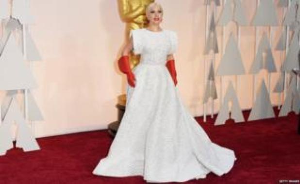 cantante Lady Gaga asiste a 87 anual premios de la Academia de Hollywood, 22 de febrero de 2015