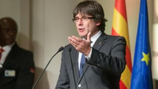 Carles Puigdemont habla en Bruselas, el 7 de noviembre, 17