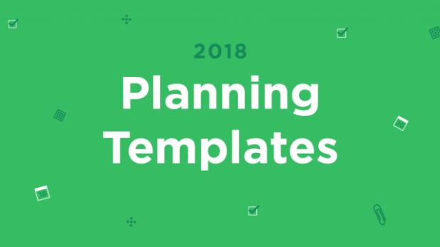 Hacer en 2018 con las plantillas de planificador 2018 de Evernote