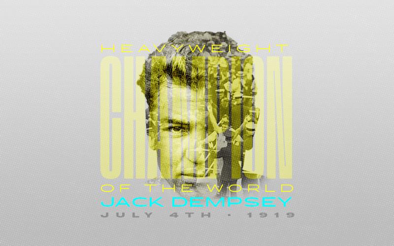 Hoy es el centenario de Jack Dempsey, quien gana el título de peso pesado