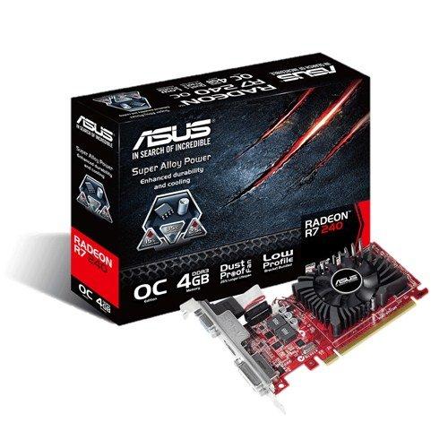 ASUS R7240-OC-4GD3-L – Tarjeta gráfica de 4 GB DDR3 (AM…