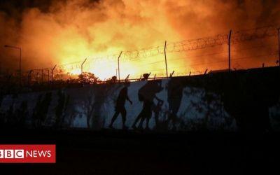 Migrantes Moria: El fuego destruye el campamento griego en Lesbos