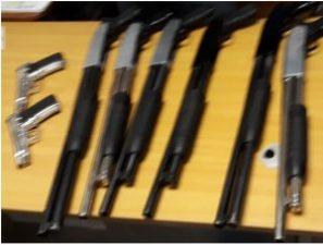 Policía Nacional y Ministerio Público incauta arsenal de armas de fuego en Santiago