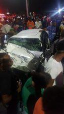 Mueren cuatro durante accidente en avenida de Santiago