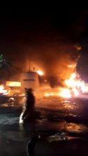 Fuerte explosión afecta empresa PetroFuel en sector de Villa Aura