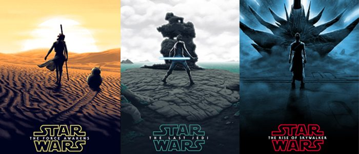 Posters of the Star Wars sequel trilogy