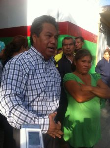 Entre los detenidos se encuentra Margarito Andrade, ex director del Ooselite, quien llegó para encabezar la marcha