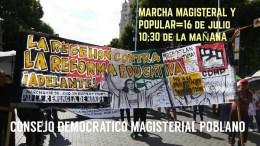 Marcharán docentes en la ciudad de Puebla este fin de semana