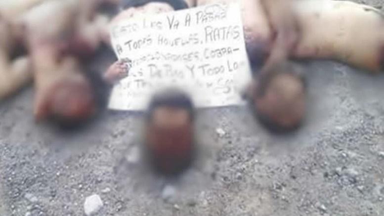Degollados que abandonaron en Puebla, fueron levantados en Veracruz