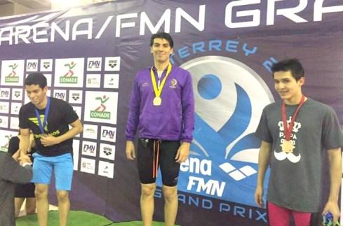 Medalla de oro 100 metros pecho Grand Prix Monterrey 2017