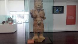 Sala de exhibición de la zona arqueológica de Tehuacán