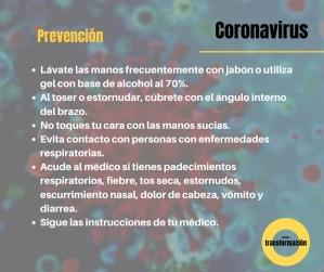 Medidas preventivas contra el Coronavirus