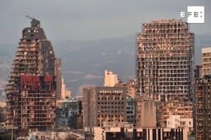 La mitad de Beirut está destruida y 300 mil sin casa