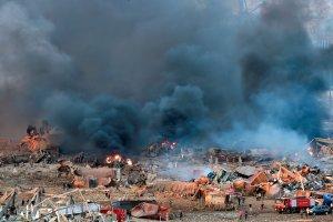 En Beirut, la explosión fue resultado del estallido de más de 2 mil toneladas de nitrato de amonio