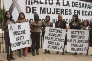 Se manifiestan mujeres de Ecatepec contra la violencia