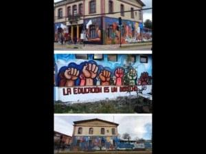 Destruyen mural de artista mexicano en Chile